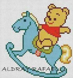 Winnie the Pooh cross stitch. Beaded Cross Stitch, Cross Stitch Rose, Cross Stitch Baby, Cross Stitch Animals, Cross Stitch Embroidery, Cross Stitch Designs, Cross Stitch Patterns, Beading Patterns, Embroidery Patterns