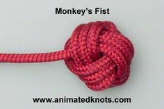 Step by Step DIY ` How to make a Monkey Fist. Perfect knot for to finish off a necklace or bracelet. I have also seen friends who play with Fire Spinning make a Rope Dart with this knot. Fun with Stri(Diy Necklace Macrame)