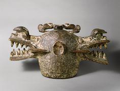 Janus Helmet Mask (Wanyugo), 19th–mid-20th century | Côte d'Ivoire; Senufo | Wood, pigment