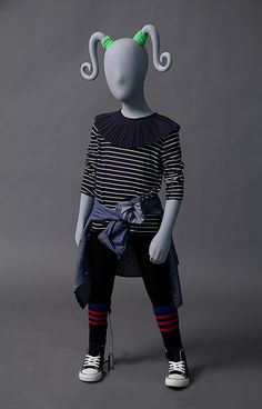 CG4-PTA is a 4 year old girl mannequin with playful, removable pigtails