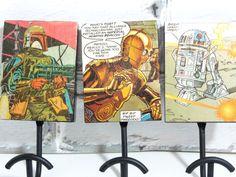 Custom Comic Book Wall HooksSet of 3Dorm by Moonlightdecorator, $45.00