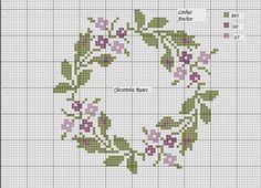 Χειροτεχνήματα: Σχέδια με στεφάνια για κέντημα / Wreath cross stitch patterns