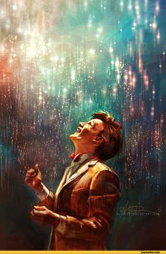 My favorite Doctor Who fanart :) 11 just looks so happy, so alive, so before Amy and Rory and River were lost.