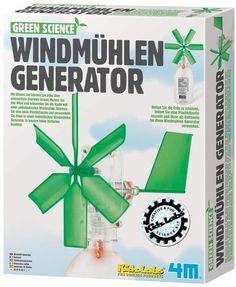Green Science - Lernspielzeug Windmühlen-Generator ab 8 Jahren, Experimentierset für Kinder | 3866