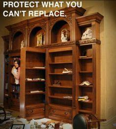 Hidden panic rooms on pinterest panic rooms hidden gun for Building a panic room inside your house