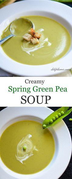 Fresh Spring Green Peas Soup from Chef De Home
