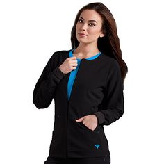 Med Couture Gold Women's Warm-Up Solid Scrub Jacket | allheart.com
