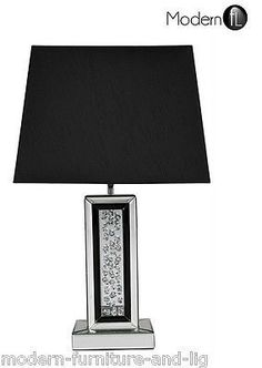 MIRRORED TABLE LAMP WITH FLOATING CRYSTALS 167 Product Description This…