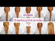 (50) Dobierany kłos - 10 warkoczy krok po kroku - hair by Jul - YouTube