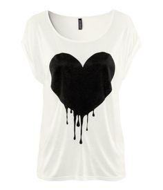 H & M heart tshirt