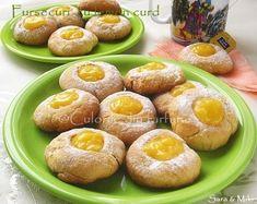 Fursecuri-Cookies-cu-lemon-curd-1-1 Lemon Curd, Saveur, Pretzel Bites, Baked Potato, Biscuits, Bread, Cookies, Baking, Ethnic Recipes