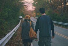 autumn, couple, fashion, holding hands