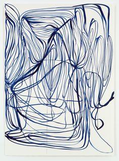 Tanya Ling Abstract Line Art, Blue Abstract, Surface Pattern Design, Pattern Art, Line Sketch, Mural Wall Art, Scenic Design, Sketchbook Inspiration, Doodle Art