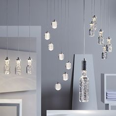 Buy John Lewis & Partners Giovanni LED 5 Cluster Bubble Ceiling Light, Chrome from our Ceiling Lighting range at John Lewis & Partners. Free Delivery on orders over Hall Lighting, Lighting Ideas, Boat Lights, Cluster Lights, House Inside, Lighting Online, Open Plan Living, Shape Design, Incandescent Bulbs