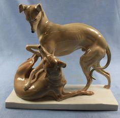 whippet-włoski-chart-figurine-meissen-chart-1937-O-pilz-pies-rzadki