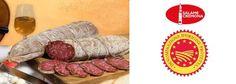 SALAME DI CREMONA IGP - Il Salame Cremona affonda le sue radici nel passato: si trovano citazioni alla fine del XVI secolo in una serie di documenti rinascimentali, in cui si elogia l'ingegno dei cremonesi per la preparazione di questo insaccato. Il Salame Cremona è confezionato con tutte le parti magre del maiale, compreso i tagli più pregiati, come la coscia e il filetto. A questi si unisce circa il 37%  di grasso duro di pancetta e si passa il tutto al tritacarne, ottenendo un impasto a…