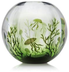 Edward Hald graal vase, Orrefors 1939 Love the water creatures in it!