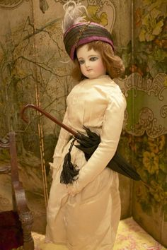 French Fashion Doll with great Umbrella & Hat