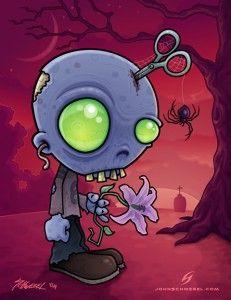 Cute Zombie Cartoon