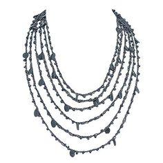 Grey yarn necklace – Jc & Crew Yarn Necklace, Amp, Grey, Accessories, Gray, Wire Necklace, Jewelry Accessories