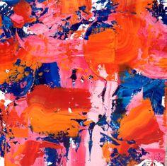 """ Sensitivity "" Acrylique 60X60 Celine, Colours, Paintings, Abstract, Artwork, Summary, Work Of Art, Paint, Auguste Rodin Artwork"
