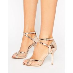 Head Over Heels By Dune Meryl Rose Gold Heeled Sandals Rose Gold Shoes, Gold Heels, Stiletto Heels, Nude Sandals, Heeled Sandals, Fall Wedding Attire, Beautiful Toes, Head Over Heels, Dune