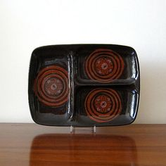 Rare Mid Century Modern Ceramic Divided Platter by CollectibleKat, $42.00
