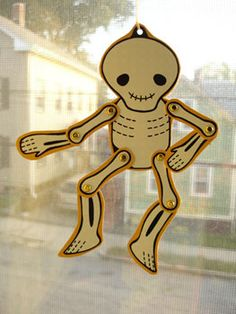 cute cut-out skeleton template.  I'm going to have them trace it on shrinky dink paper!