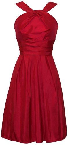 Amazon.com: Taffeta Halter Bridesmaid Dress Prom Party Formal Gown Knee-Length: Clothing