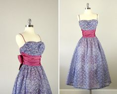 Vintage 50s Lorrie Deb Gown /  Vintage 1950s Dress /  by bloombird, $140.00