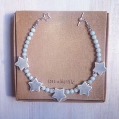 Porcelain stars necklace #lovebiarritz