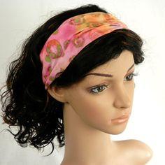 Batik Headband Cotton Batik in Rainbow Sherbert by thimbledoodle