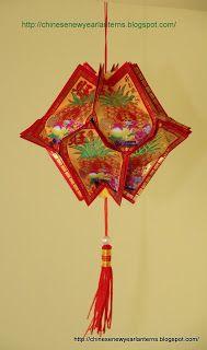 Chinese New Year Lanterns 红包灯笼手工制作: How to make an Ang Pow Spaceship