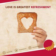 Love is greatest refreshment! #TehzeebBakers