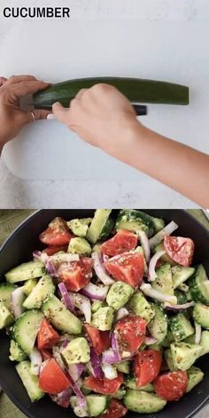 How To Make Healthy Avocado Tomato salad Healthy Chicken Recipes, Salmon Recipes, Vegetarian Recipes, Cooking Recipes, Healthy Smoothies, Healthy Drinks, Healthy Snacks, Healthy Eating, Tomato Salad Recipes