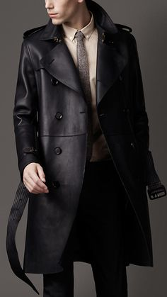 Burberry - Bonded Leather Trench Coat