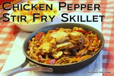 Chicken Pepper Stir Fry Skillet Recipe with @tysonfoods @cbias #inspiremydinner #cbias ~ * THE COUNTRY CHIC COTTAGE (DIY, Home Decor, Crafts, Farmhouse)