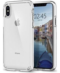 Spigen-Ultra-Hybrid-Cover-for-iPhone-X-Transparent