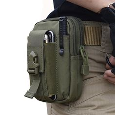 FUNS Compact Tactical Waist Pack Utility Gadget Fanny Bag for iPhone 6 Plus Belt Molle Pouch (Orange) Waist Pouch, Belt Pouch, Belt Bags, Army Gears, Molle Pouches, Tactical Vest, Edc Everyday Carry, Small Bags, Leather Craft