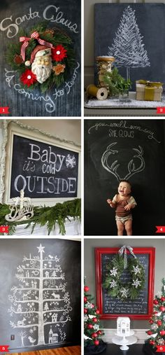 Chalkboard decorating ideas for Christmas by thebigbiglemon