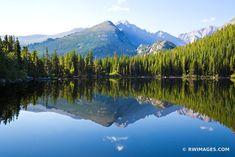 BEAR LAKE IN SUMMER ROCKY MOUNTAIN NATIONAL PARK COLORADO COLOR