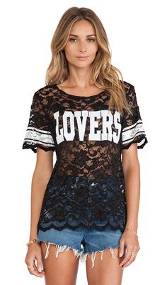 LOVE this lace athletic tee