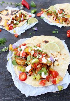 Mexican Shrimp Tacos with Heirloom Salsa Fresca | CiaoFlorentina.com