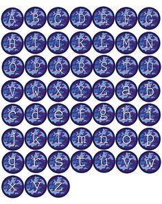 Blue Camo Alphabet Bottle Cap Images at Bottle Cap Co