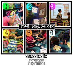 Math with Someone examples to use during Daily 5 mathe or math stations + freebies! #daily5math