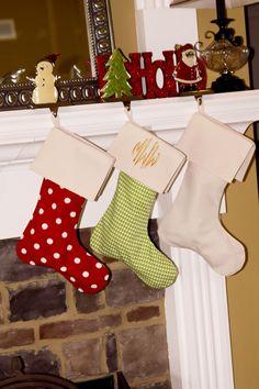 Monogram Christmas Stocking (Pre-Order) Ships October by TwinStitchesMonogram on Etsy