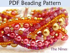 Multistrand Braided Bracelet PDF Beading Pattern. Love the colours