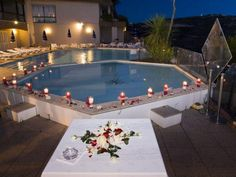 A candlelit pool above Eze Our Wedding, Wedding Venues, Dream Wedding, South Of France, Decoration, Outdoor Decor, Chic, Home Decor, Wedding Places