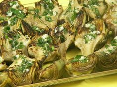 Pan Roasted Artichokes: A great appetizer or side dish! - See more at: http://www.cookingwithnonna.com/italian-cuisine/pan-roasted-artichokes.html#sthash.Q4gwu33Y.dpuf