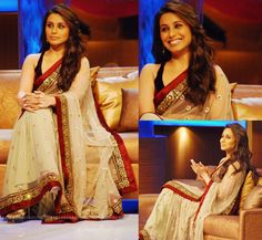 Rani Mukherjee... Love her sari... Simple and elegant